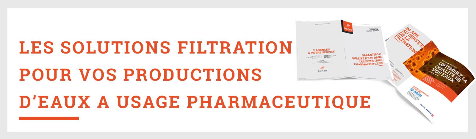Livre blanc sur les eaux à usage pharmaceutique